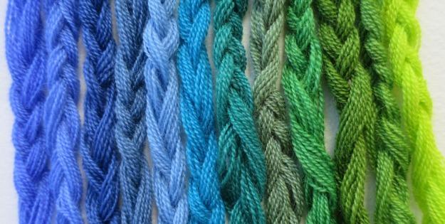 blågröna garner 2